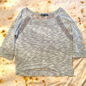 Almost Famous Grey Lightweight Sweater